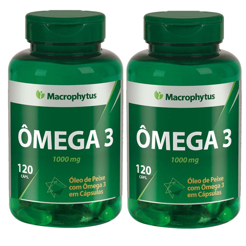 KIT 2x Ômega 3 1000mg 120 softgels - Macrophytus
