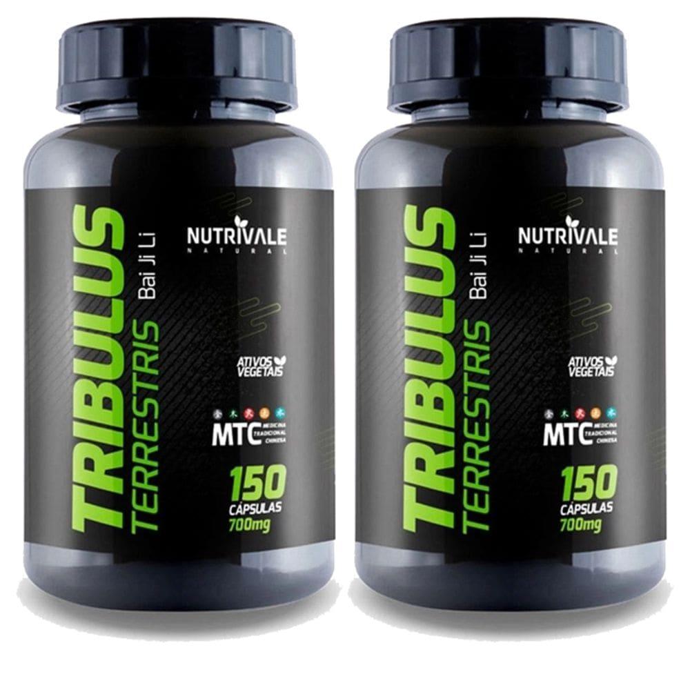 Kit 2x Tribulus Terrestris 63% - Bai ji li - 150 cápsulas - Nutrivale