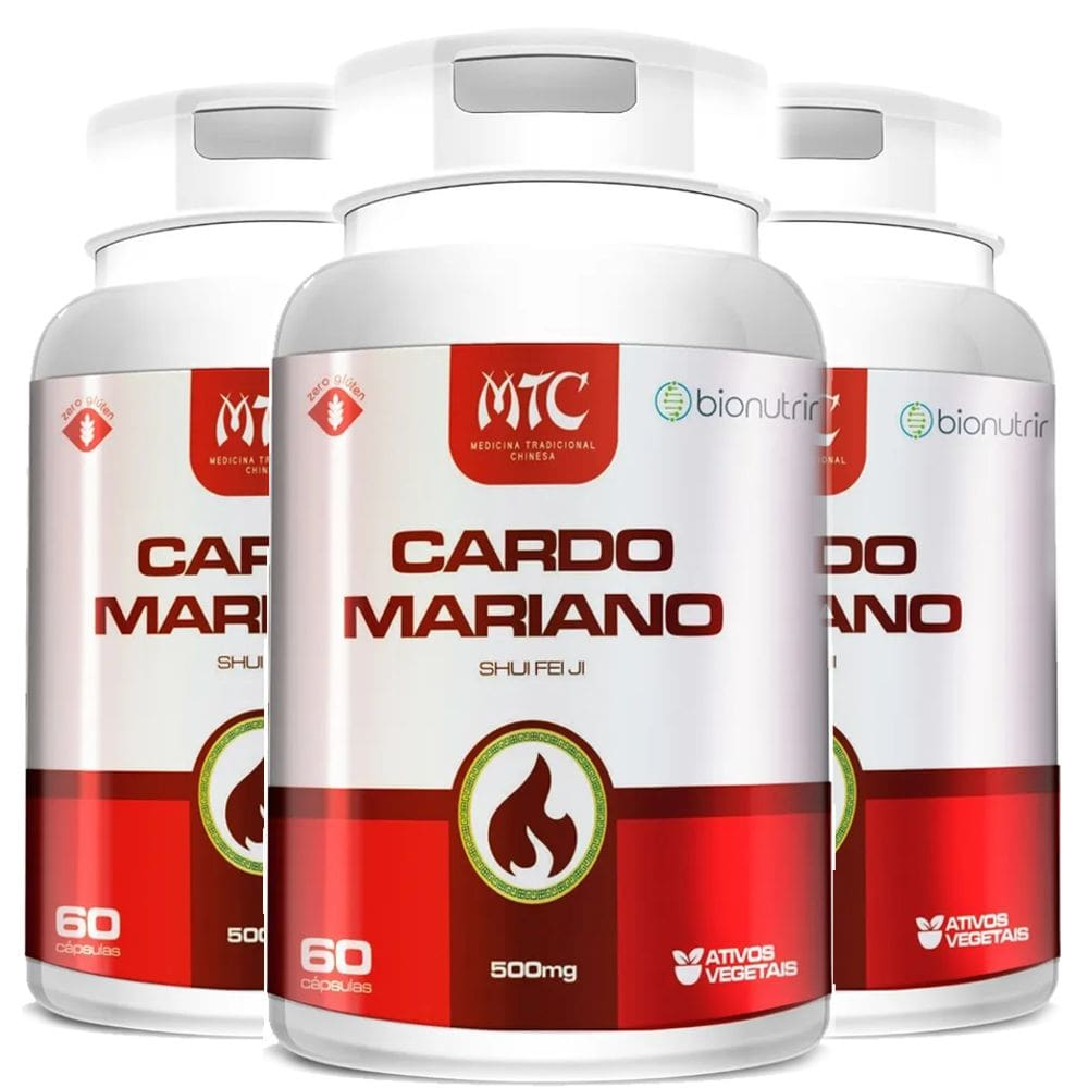 Kit 3x Cardo Mariano (Silimarina) 500mg 60 cápsulas - Bionutrir