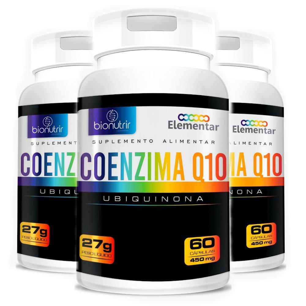 KIT 3x Coenzima Q10 (Ubiquinona) 100mg 60 Cápsulas - Bionutrir