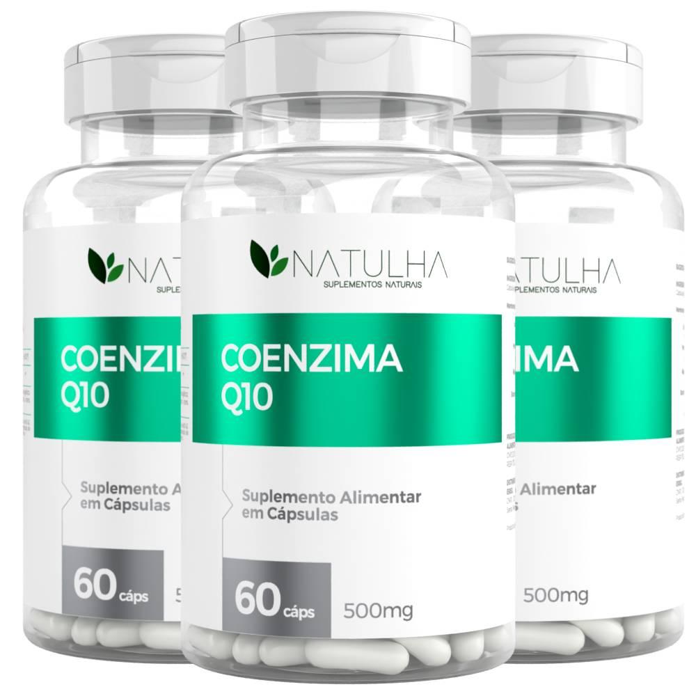 KIT 3x Coenzima Q10 (Ubiquinona) 60 Cápsulas - Natulha