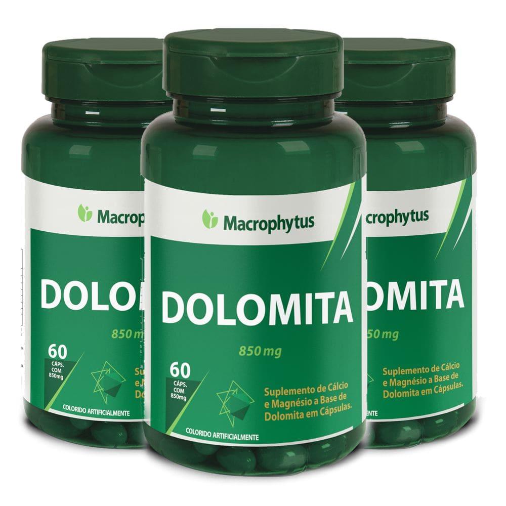 Kit 3x Dolomita ( Cálcio + Magnésio) 60 cápsulas - Macrophytus