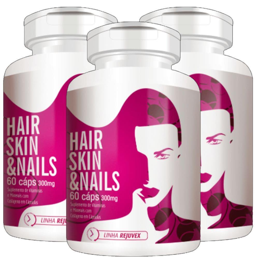 KIT 3x Hair Skin & Nails Mulher 60 Cápsulas - Flora Nativa