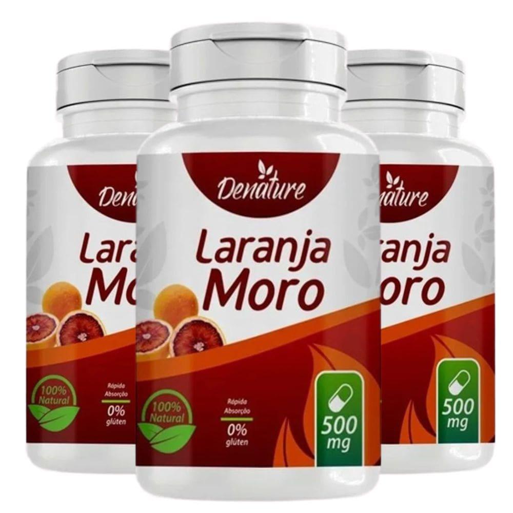 Kit 3x Laranja Moro 500mg 100 cápsulas - Denature