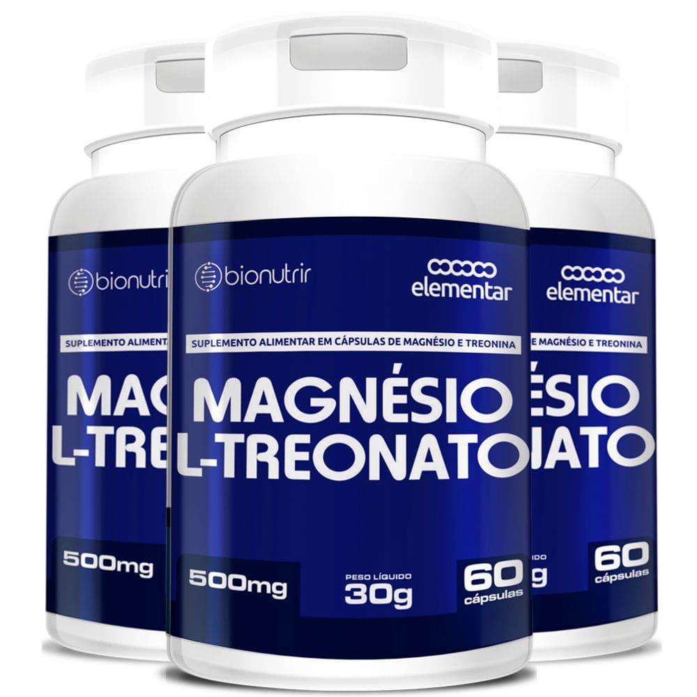 Kit 3x Magnésio L-Treonato 60 cápsulas - Bionutrir