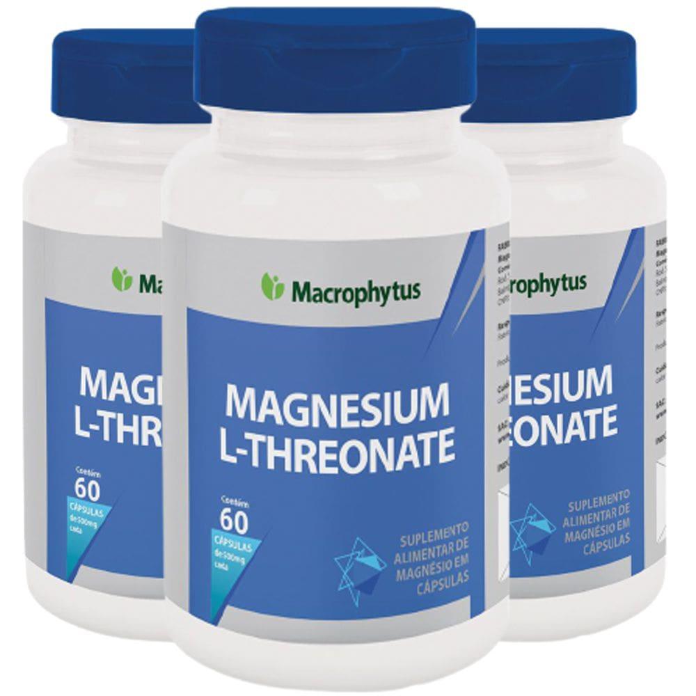 Kit 3x Magnésio L-Treonato 60 cápsulas - Macrophytus