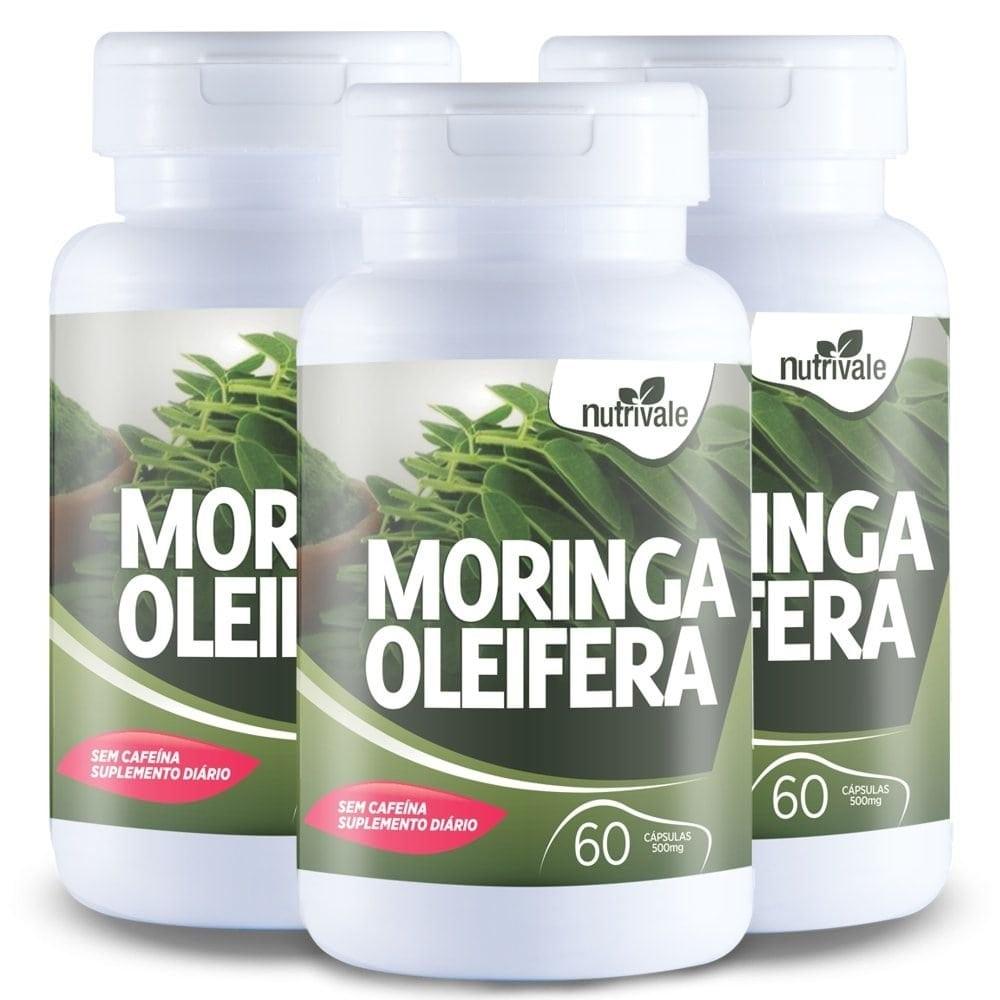 Kit 3x Moringa Oleifera 60 cápsulas - Nutrivale   - Personall Suplementos