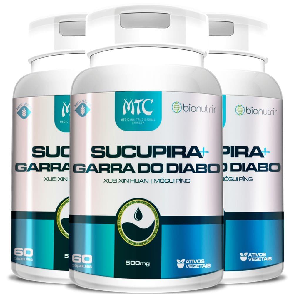 Kit 3x Sucupira + Garra do Diabo 500mg 60 cápsulas - Bionutrir