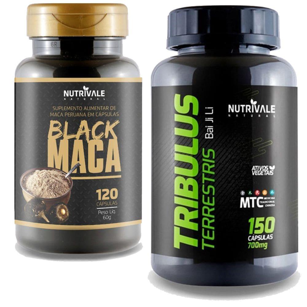 Kit Tribulus Terrestris Chinês 63% 150 cápsulas + Black Maca Peruana Negra 120 cápsulas - Nutrivale