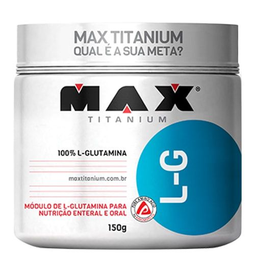 L-G Glutamina 150g - Max Titanium  - Personall Suplementos