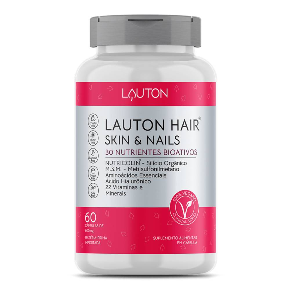 Lauton Hair, Skin & Nails - 60 Cápsulas - Lauton Nutrition