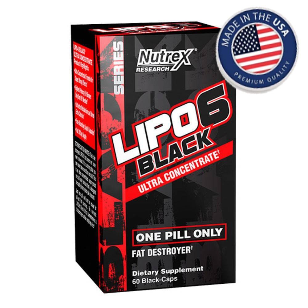 Lipo 6 Black Ultra Concentrado 60caps - Nutrex  - Personall Suplementos