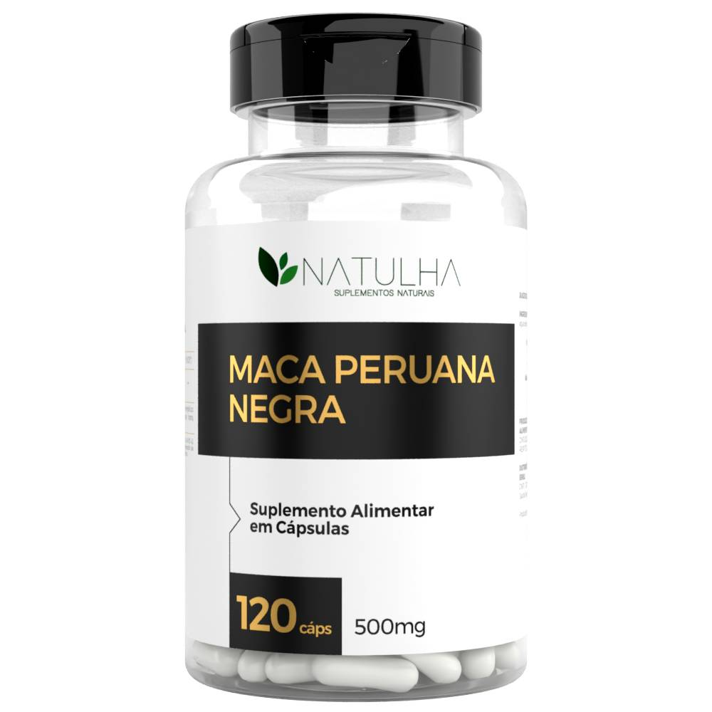 Maca Peruana Negra 120 cápsulas - Natulha