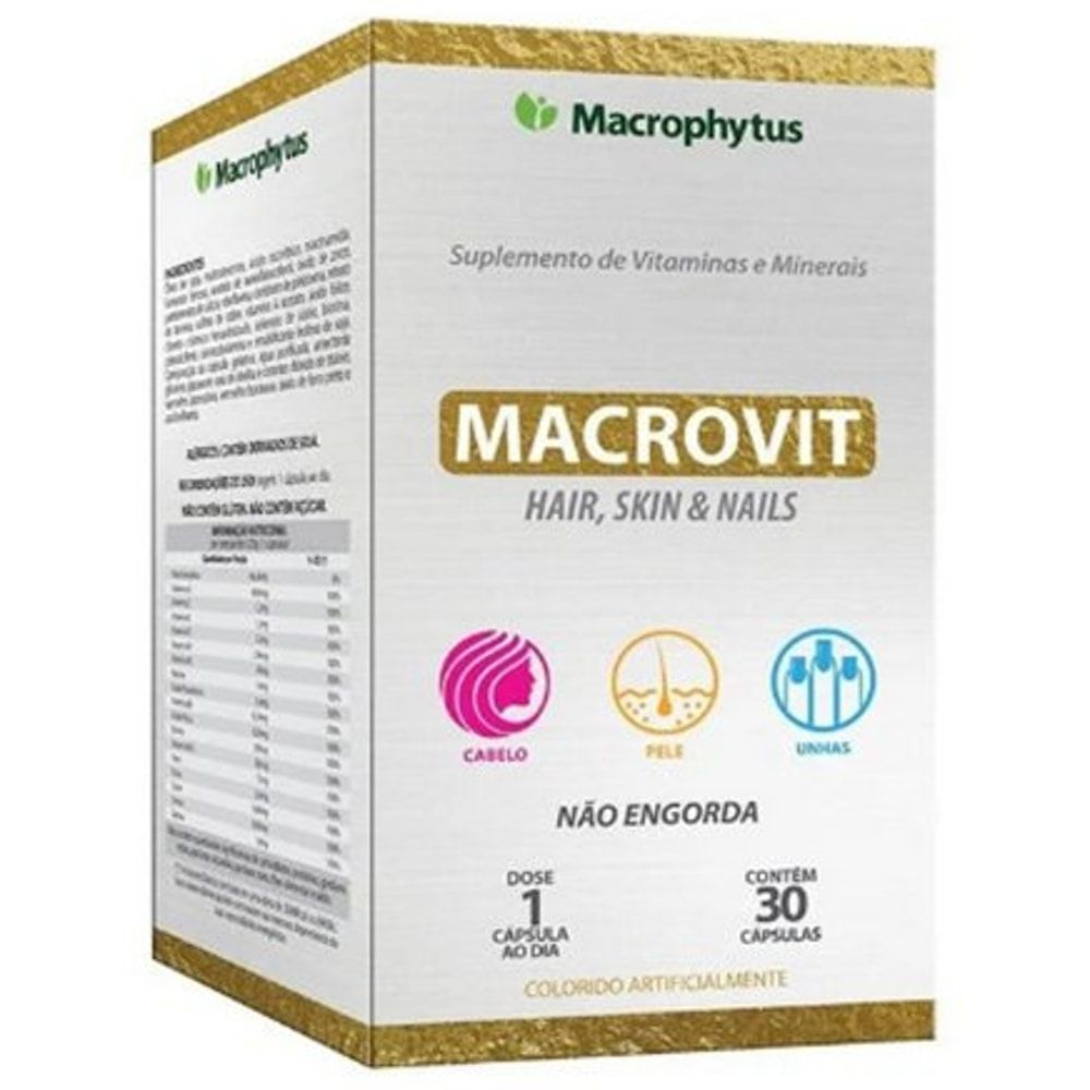 Macrovit Hair, Skin & Nails 30 cápsulas - Macrophytus