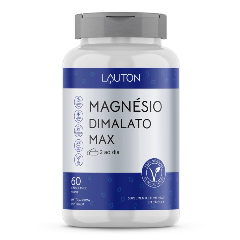 Magnésio Dimalato  60 Cápsulas  - Lauton Nutrition