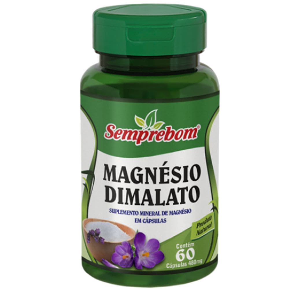 Magnésio Dimalato 60 cápsulas - Semprebom
