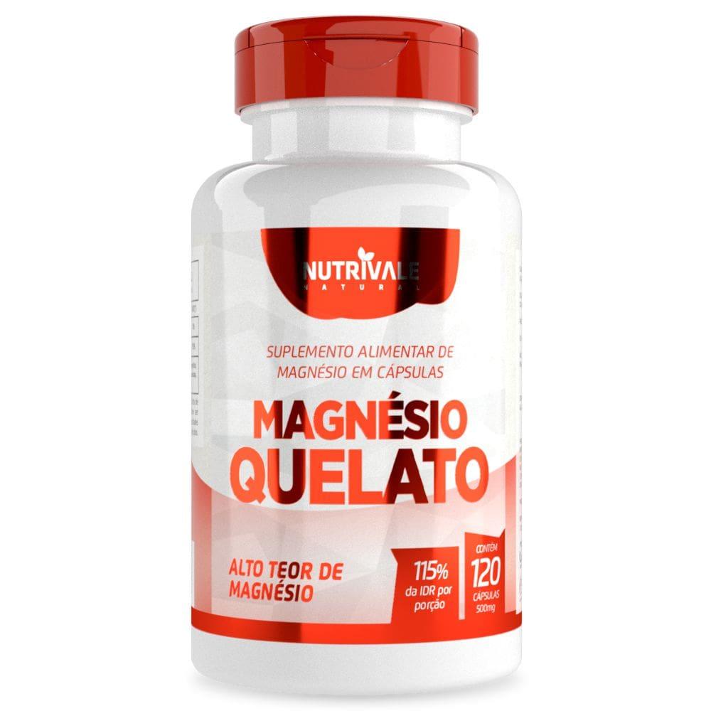 Magnésio Quelato 60 cápsulas - Nutrivale