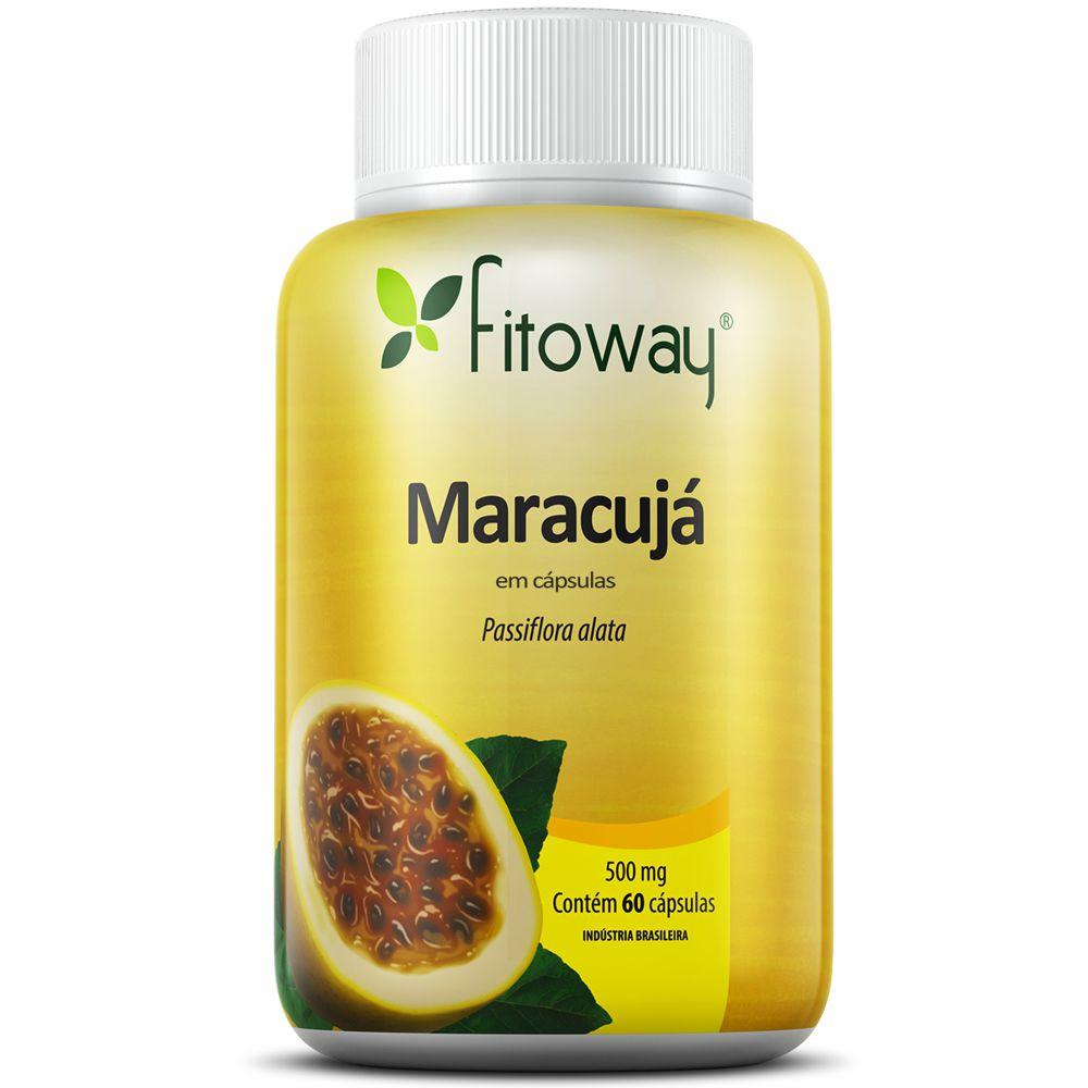 Maracujá - Passiflora -  60 cápsulas - Fitoway  - Natulha