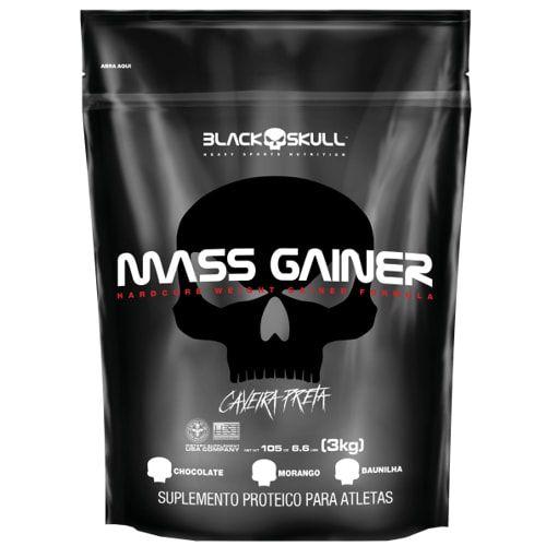 Mass Gainer Refil  3kg - Black Skull  - Personall Suplementos