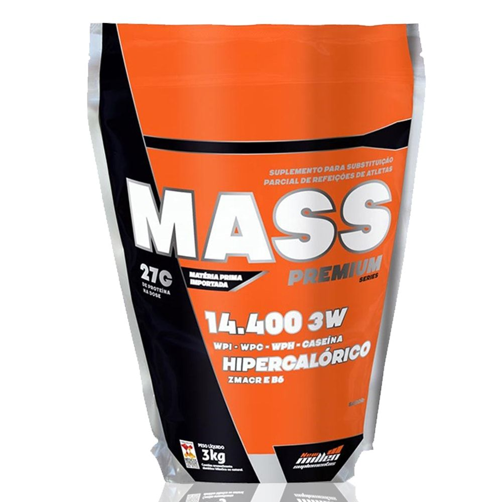 Mass Premium 14400 3kg - New Millen   - Personall Suplementos