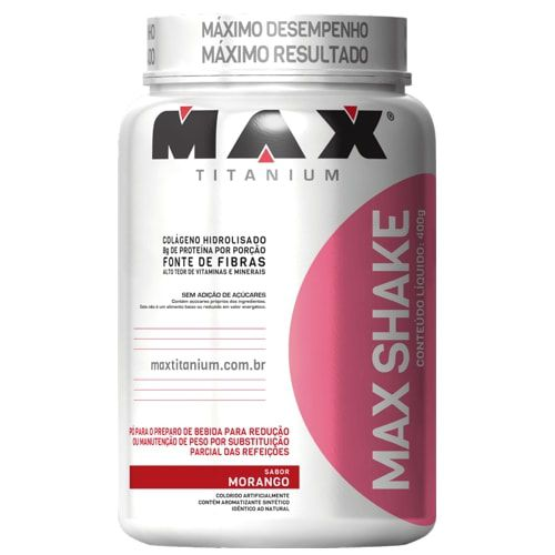 Max Shake 400g - Max Titanium   - Personall Suplementos