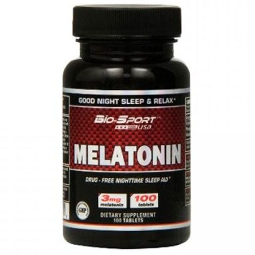 Melatonina 3mg 100caps - Bio-Sport USA  - Natulha
