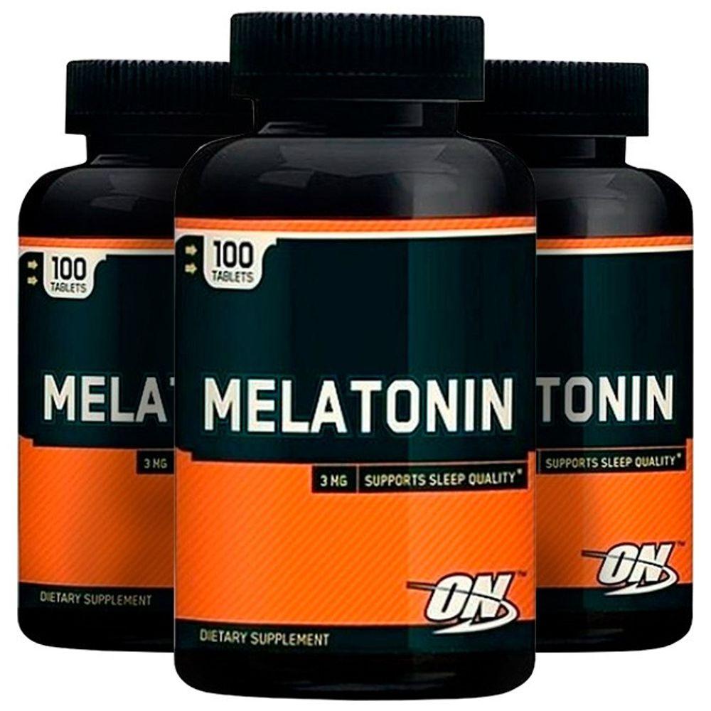 Melatonina 3mg - 3 unidades de 100 comprimidos - Optimum
