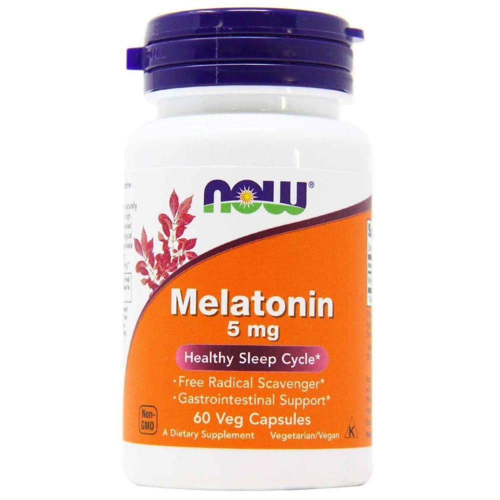 Melatonina 5mg 60 cápsulas -  Now Foods