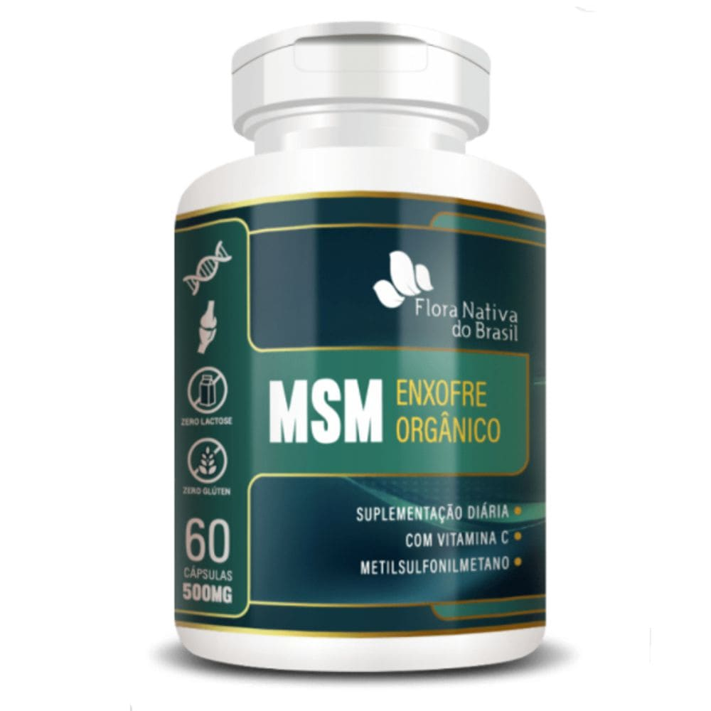 MSM Enxofre Orgânico 500mg 60 cápsulas - Flora Nativa