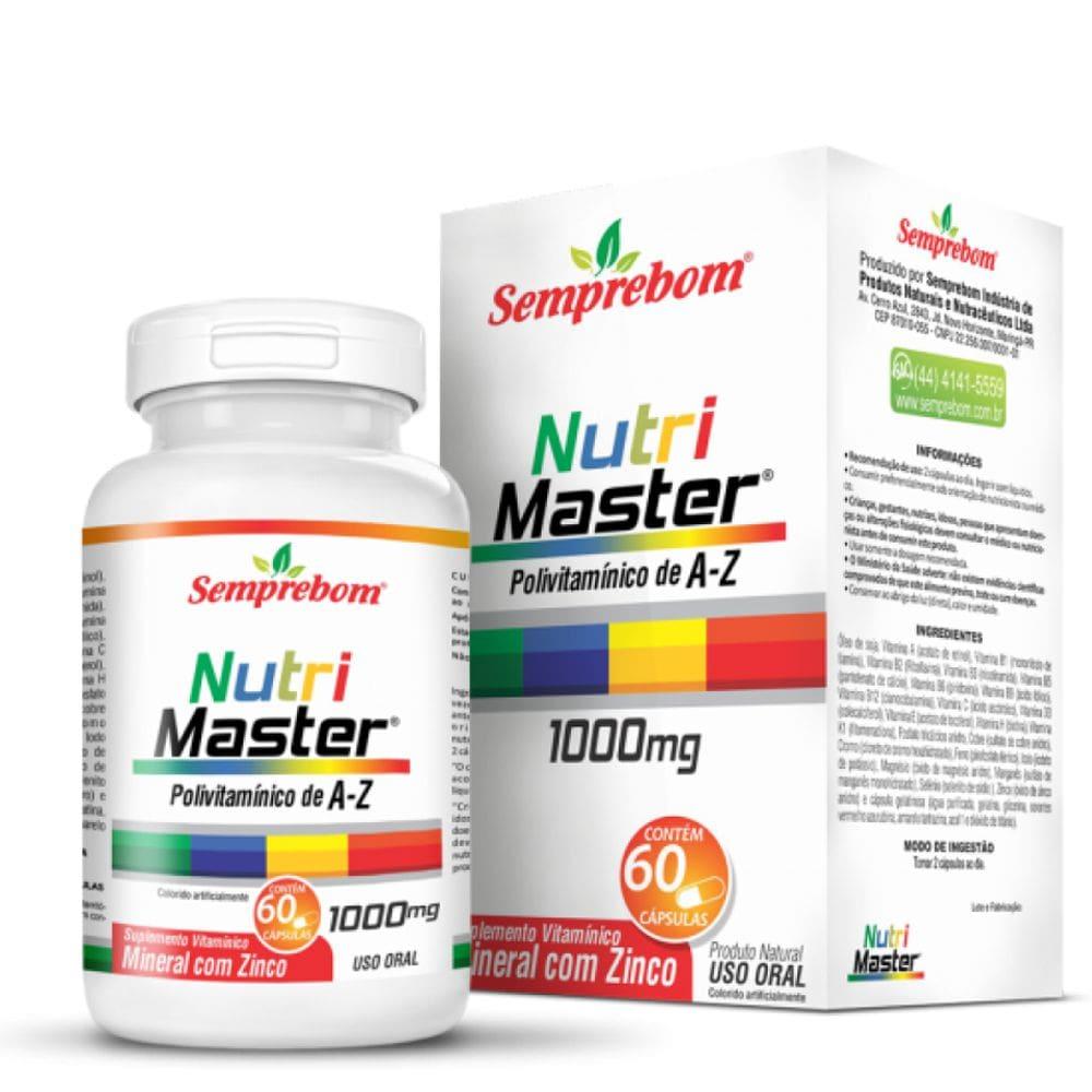 Nutri Master ( Polivitamínico A a Z) 60 cápsulas- Semprebom