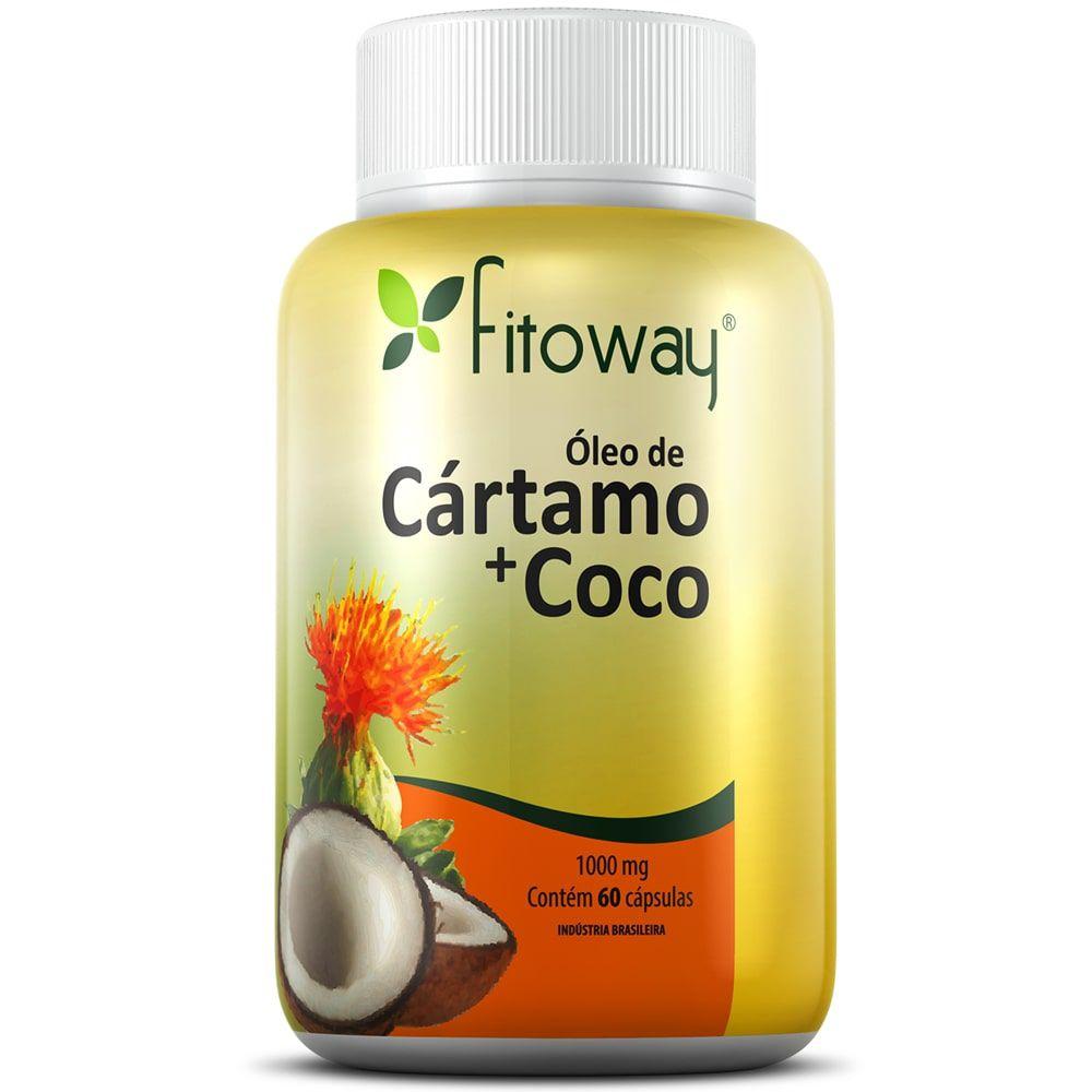 Óleo de Cártamo + Coco 60 cápsulas - Fitoway  - Natulha