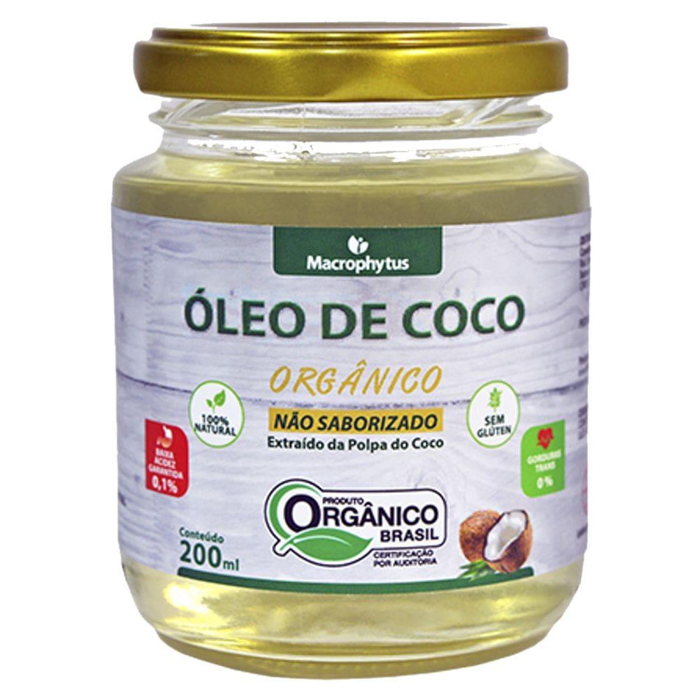 Óleo de Coco Não Saborizado Orgânico 200ml - Macrophytus