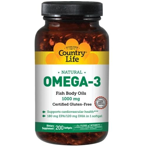 Ômega 3 1000mg - 200caps - Country Life  - Personall Suplementos