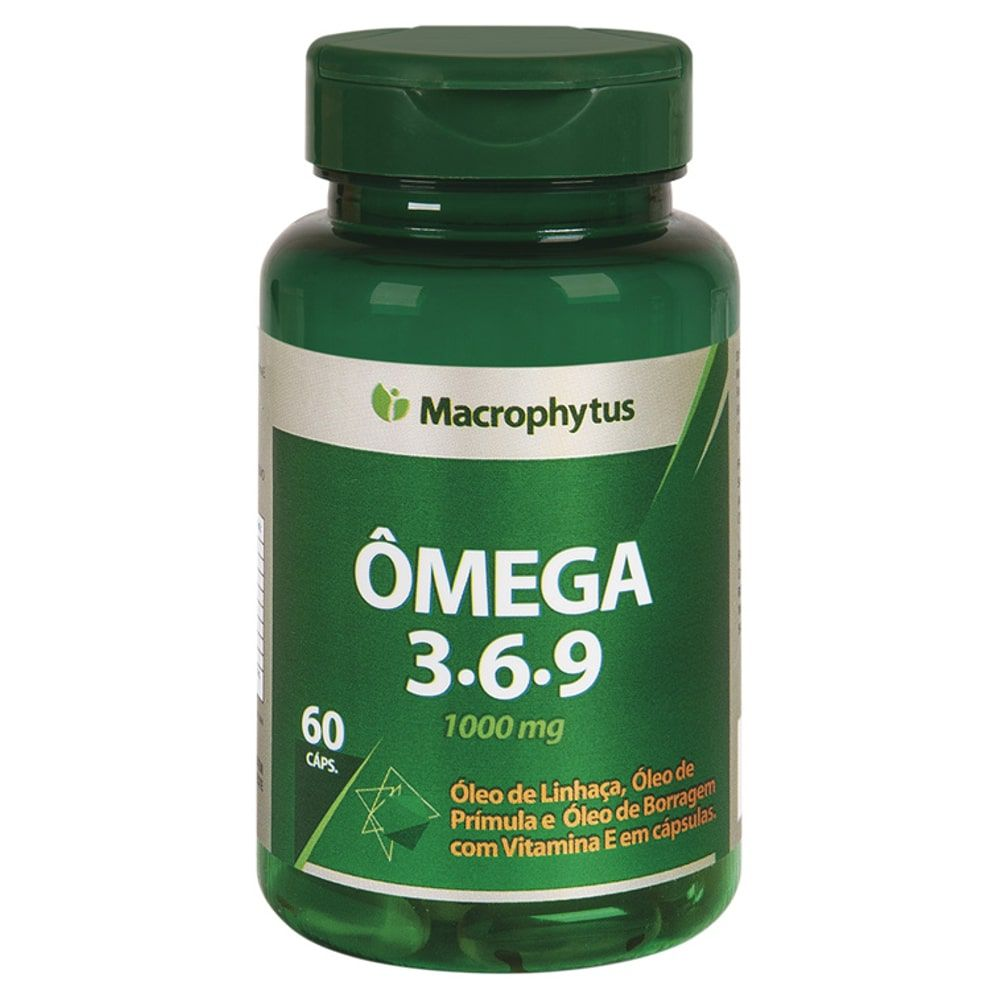 Ômega 3-6-9 60 softgels - Macrophytus