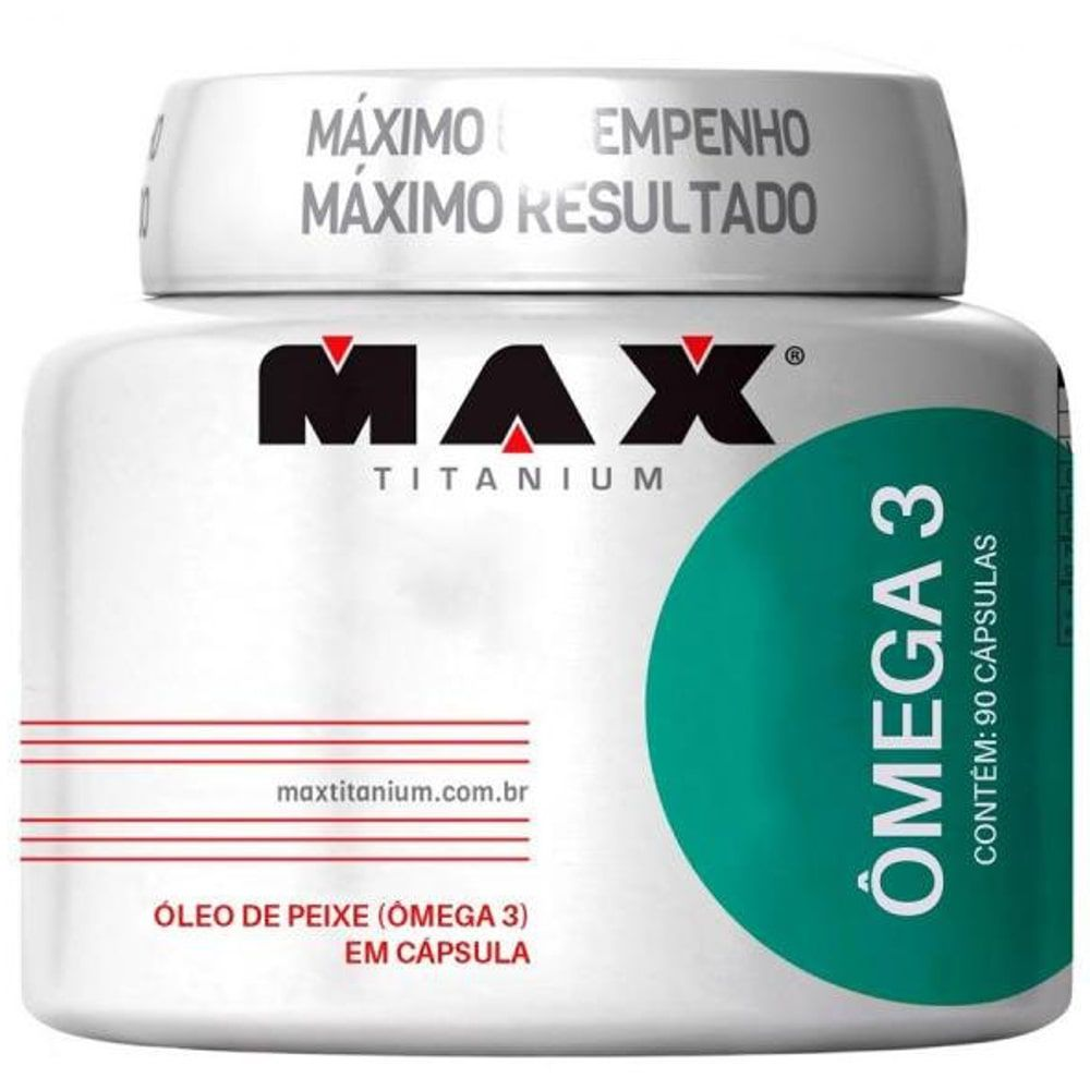 Ômega 3 90caps - Max Titanium  - Personall Suplementos