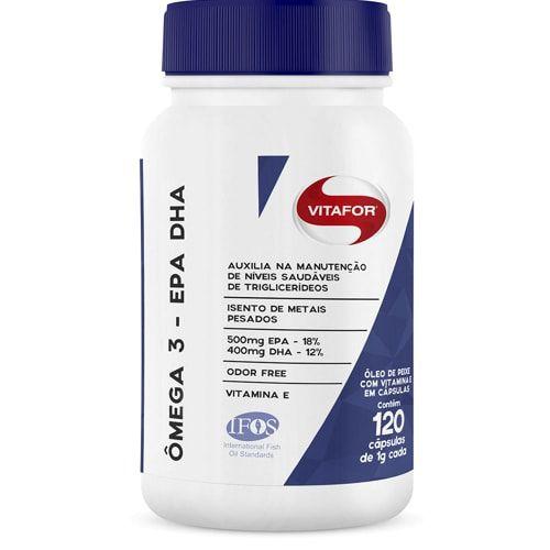 Ômega 3 EPA DHA 120 caps - Vitafor  - Personall Suplementos