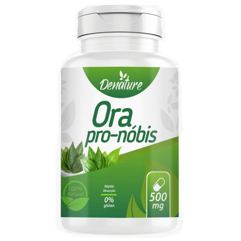 Ora-pro-nóbis 500mg 100 cápsulas - Denature