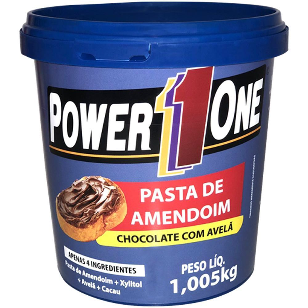 Pasta de Amendoim Chocolate com Avelã 1,05kg Power1One  - Personall Suplementos
