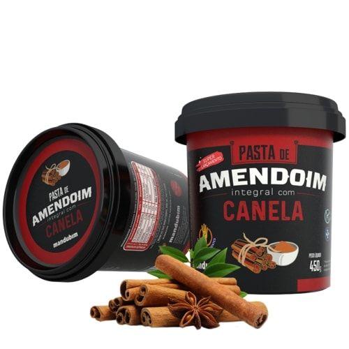 Pasta de Amendoim com Canela 450g - Mandubim  - Personall Suplementos