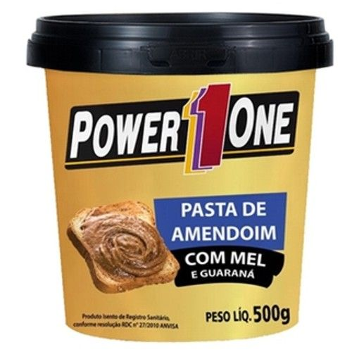 Pasta de Amendoim Com Mel e Guaraná 500g - Power One  - Personall Suplementos