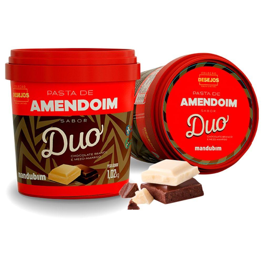 Pasta de Amendoim Duo 1kg - Mandubim  - Personall Suplementos