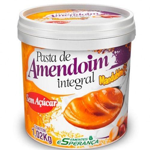 Pasta de Amendoim Integral 1,02kg - Mandubim  - Personall Suplementos