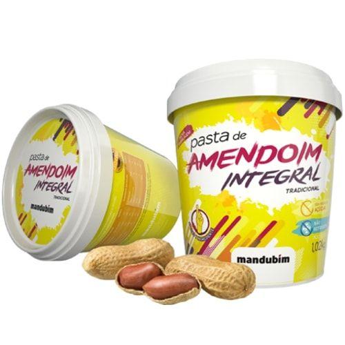 Pasta de Amendoim Integral 450g - Mandubim  - Personall Suplementos
