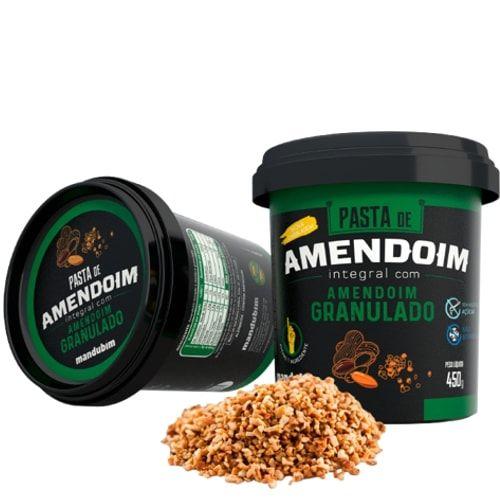 Pasta de Amendoim Integral com Granulado 450g - Mandubim  - Personall Suplementos