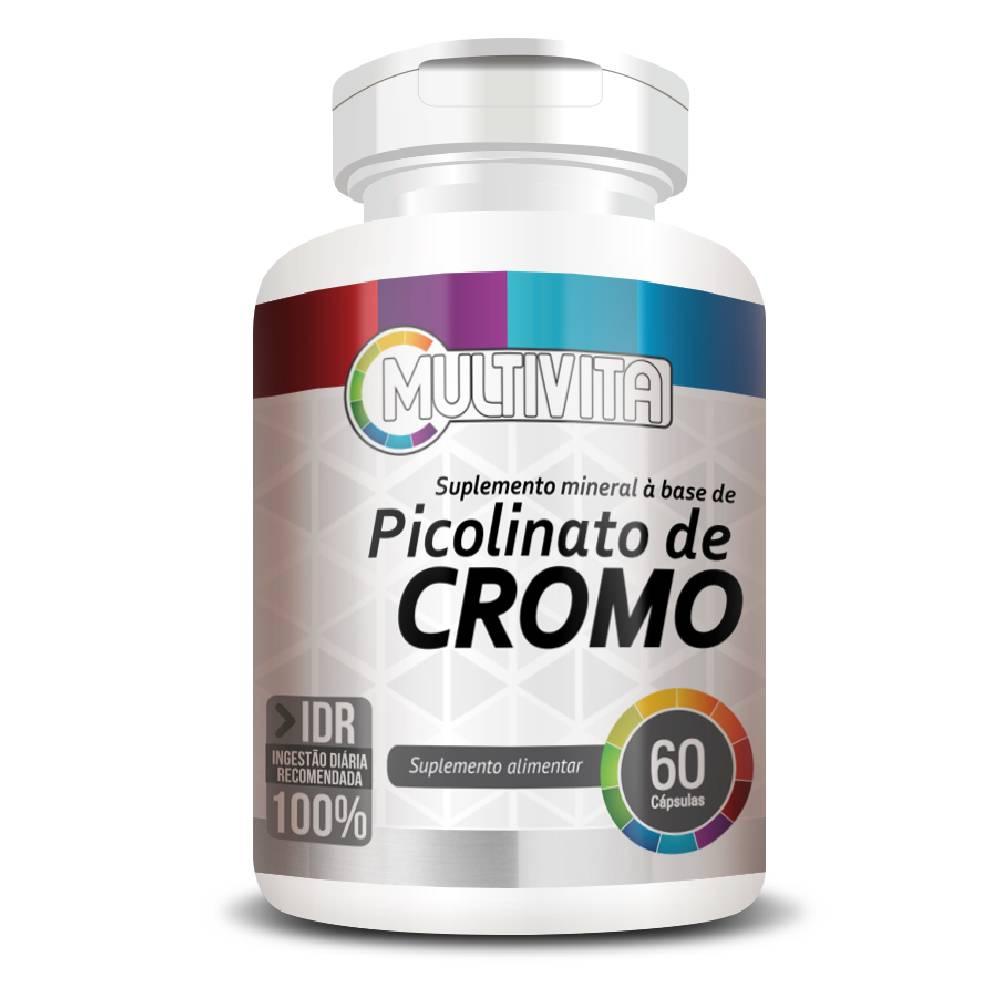 Picolinato de Cromo 100% IDR 60 cápsulas - Multivita