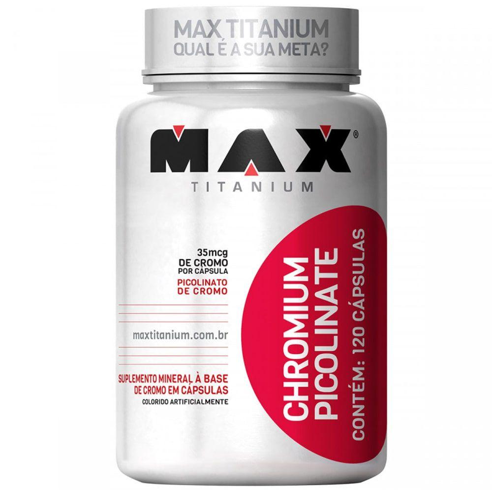 Picolinato de Cromo 120caps - Max Titanium  - Personall Suplementos