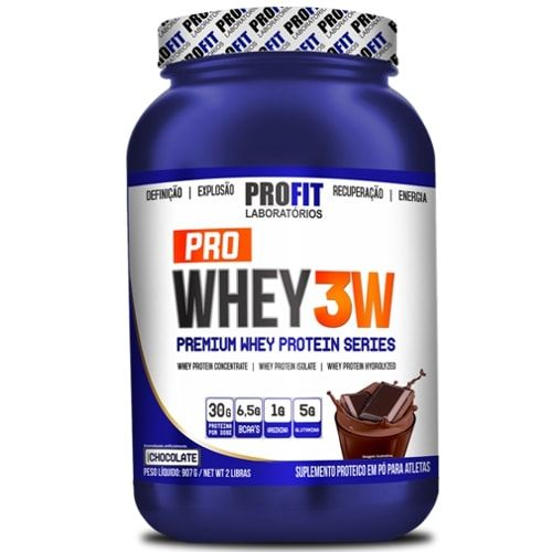 Pro Whey 3W 900g - Profit   - Personall Suplementos