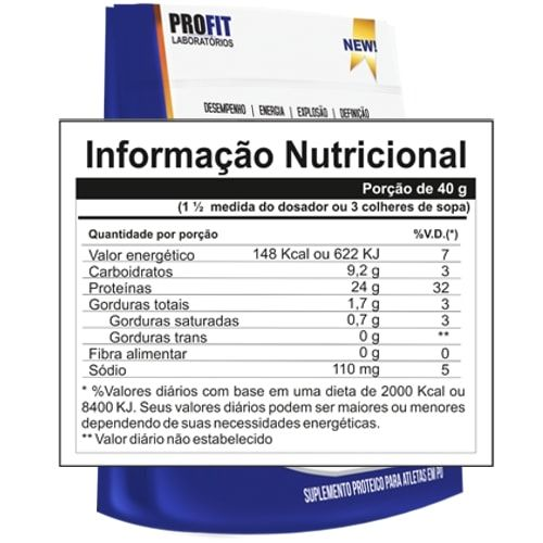 Pro Whey Advanced 2kg - Profit   - Personall Suplementos