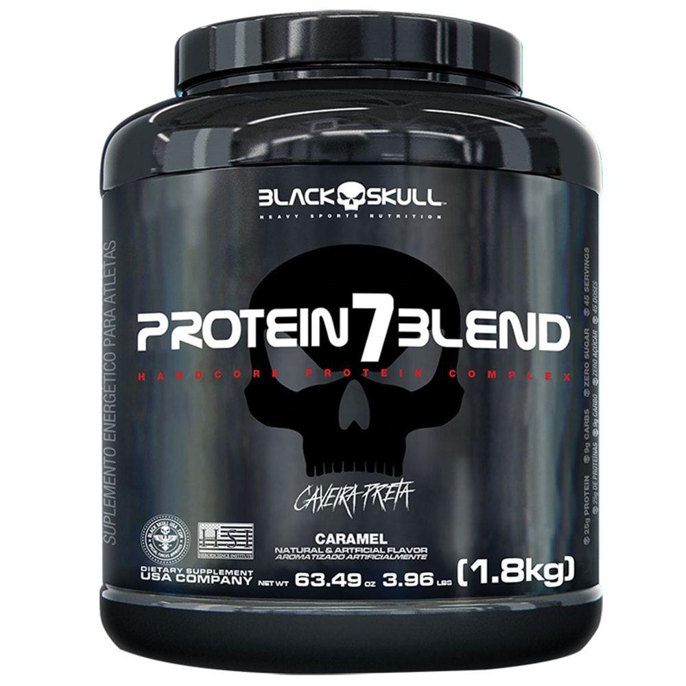 Protein 7 Blend 1800g - Black Skull  - Personall Suplementos