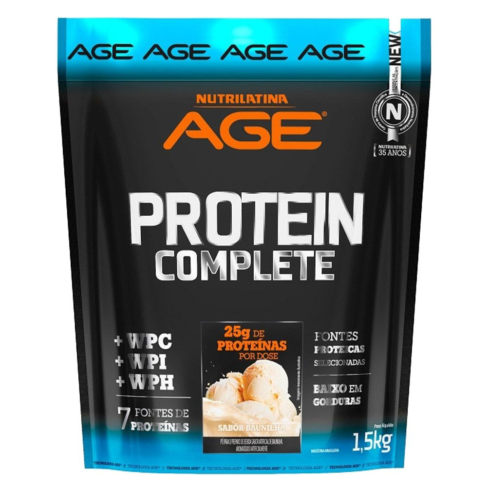 Protein Complete 1,5 kg - Nutrilatina Age  - Personall Suplementos